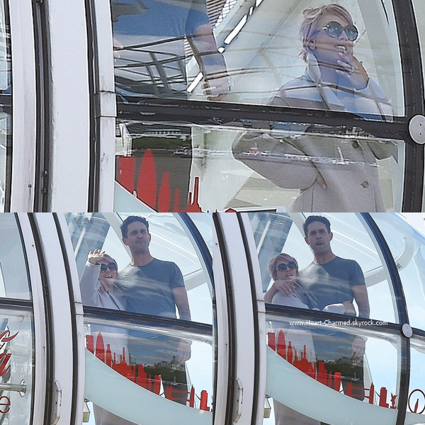 -    03/06/2015 : Kaley et son mari Ryan visitant le London Eye à Londres.  -