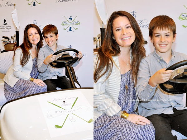 -    06/06/2015 : Holly et son fils assistant au Brooks Brothers Hosts MINI CLASSIC Golf Tournament à Los Angeles.  -