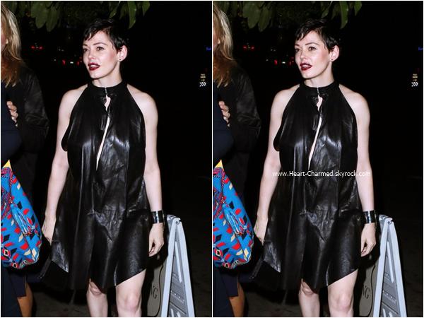 -    13/06/2015 : Rose se rendant au Château Marmont à Los Angeles.  -