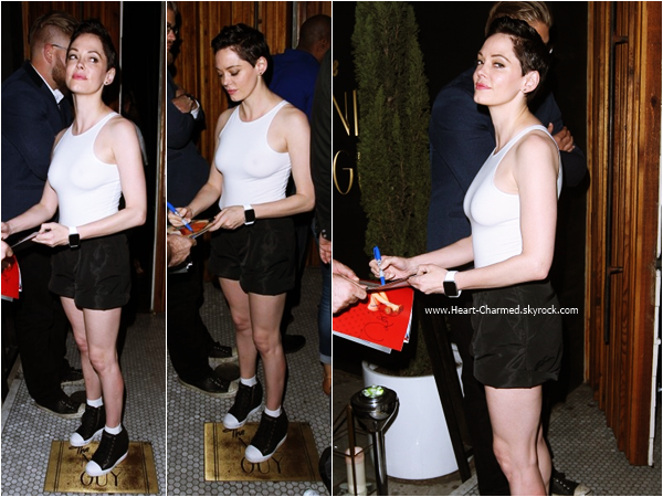 -    10/07/2015 : Rose quittant le club The Nice Guy à West Hollywood.  -