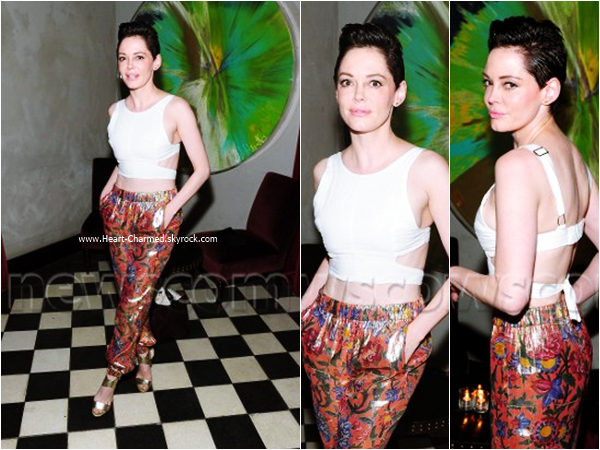 "-    15/07/2015 : Rose assistant au ""The Sharp American"" Premiere Screening & Dinner à New-York.  -"
