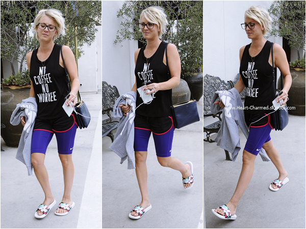 -    20/07/2015 : Kaley quittant son cours de yoga à Studio City.  -