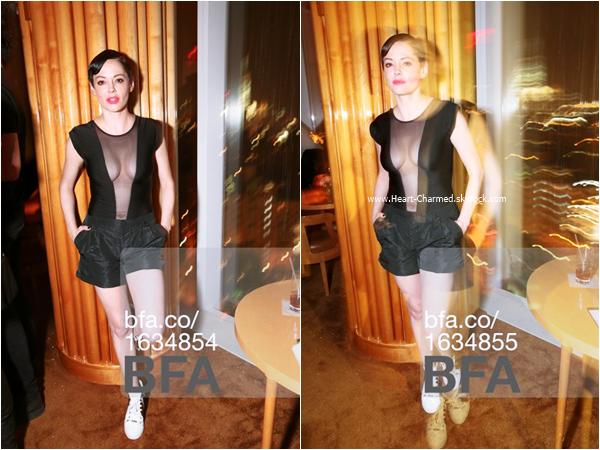 -    09/08/2015 : Rose rejoignant l'hôtel Greenwich à New-York.  -