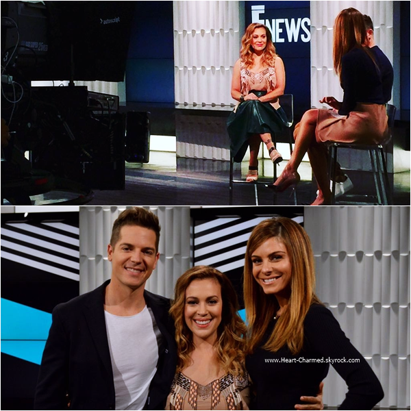 -    08/09/2015 : Alyssa sur le plateau de l'émission Extra TV.  -
