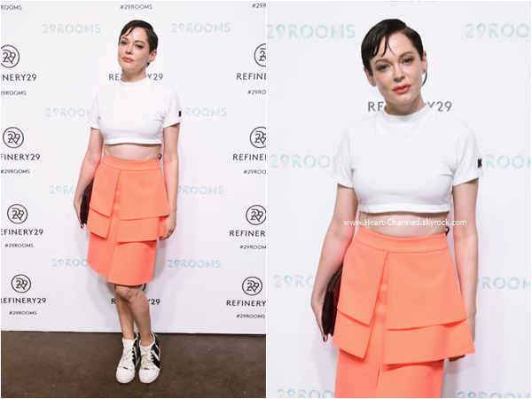 -    10/09/2015 : Rose assistant à la soirée Refinery29 presentation of 29Rooms à New-York.  -