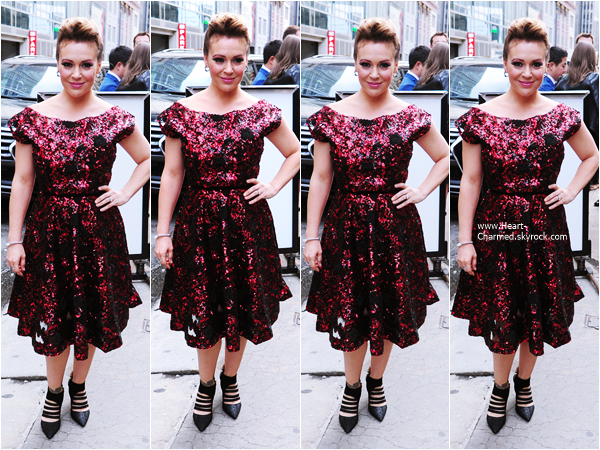 -    11/09/2015 : Alyssa arrivant à la Fashion Week à New-York.  -