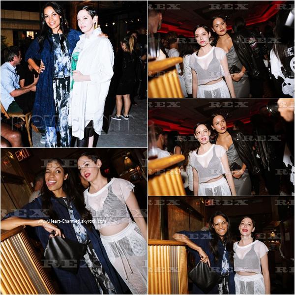 -    13/09/2015 : Rose assistant à la soirée OPENING CEREMONY Spring/Summer 2015 à New-York.  -