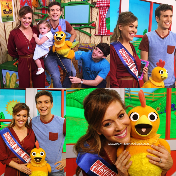 -    16/09/2015 : Alyssa sur le plateau de l'émission Sunny Side Up à New-York.  -