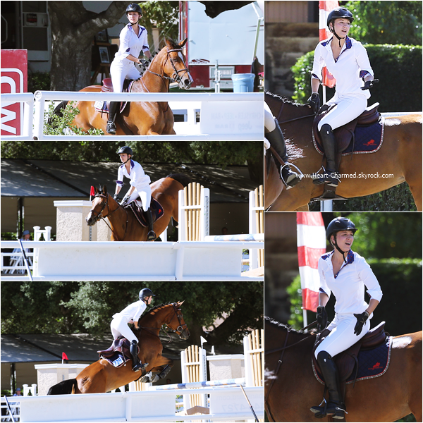 -    26/09/2015 : Kaley faisant de l'équitation au Flintridge Riding Club à La Canada Flintridge.  -