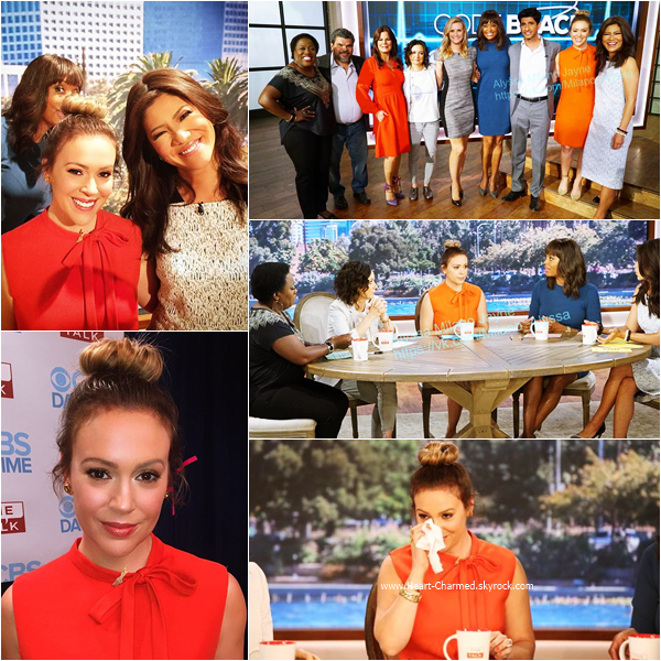 -    30/09/2015 : Alyssa sur le plateau de l'émission The Talk à New-York.  -