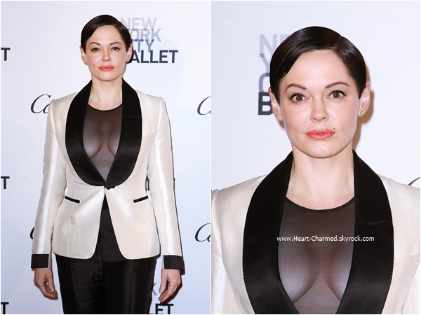-    30/09/2015 : Rose assistant au 2015 New York City Ballet Fall Gala à New-York.  -