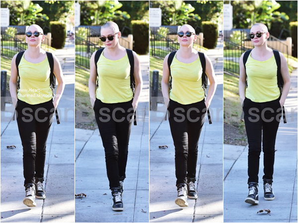 -    23/11/2015 : Rose se promenant dans les rues de West Hollywood.  -