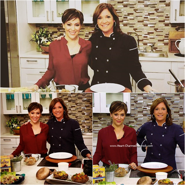 -    07/01/2016 : Alyssa sur le plateau de l'émission The Chew à New-York.  -