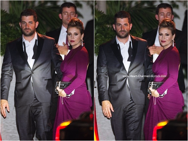-    10/01/2016 : Alyssa et son mari David arrivant aux InStyle and Warner Bros. 73rd Annual Golden Globe Awards Post-Party à Beverly Hills.  -