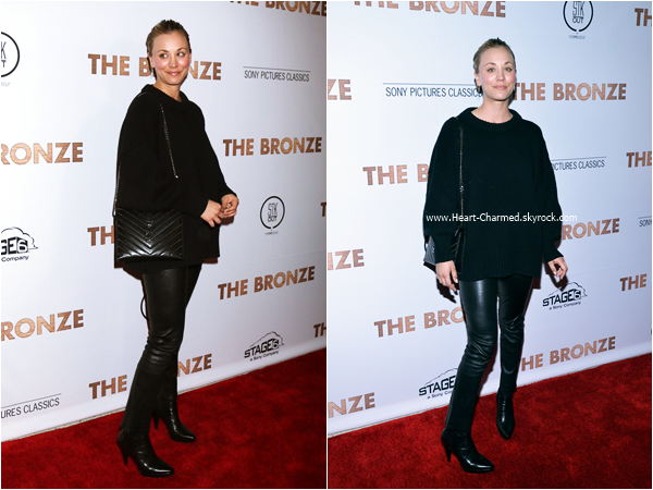 -    07/03/2016 : Kaley assistant à la première du film The Bronze à West Hollywood.  -
