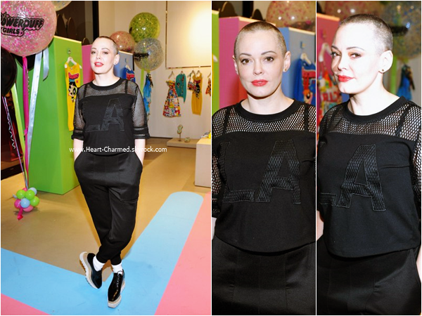 -    04/02/2016 : Rose assistant au The Powerpuff Girls x Moschino Launch Event à Los Angeles.  -