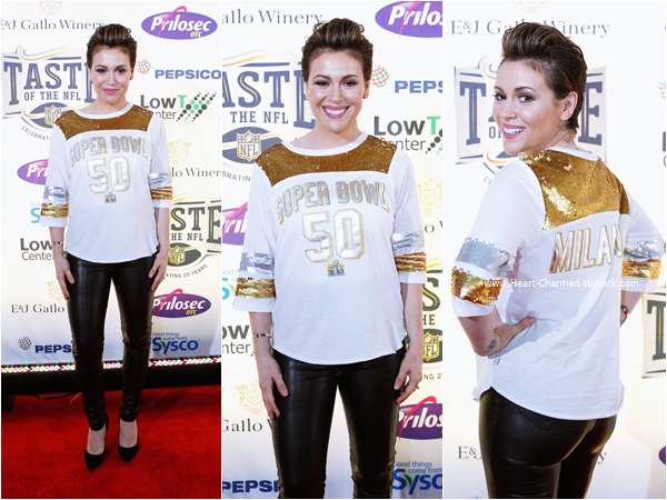 "-    06/02/2016 : Alyssa assistant au ""Touch By Alyssa Milano"" Signing & Meeting à San Francisco.  -"