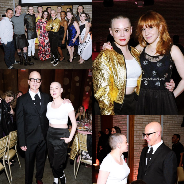 -    09/03/2016 : Rose assistant au Stephen Petronio Company 2016 Benefit Gala à New-York.  -