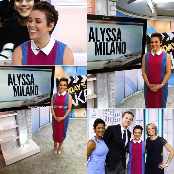 -    07/04/2016 : Alyssa sur le plateau de l'émission The View à New-York.  -