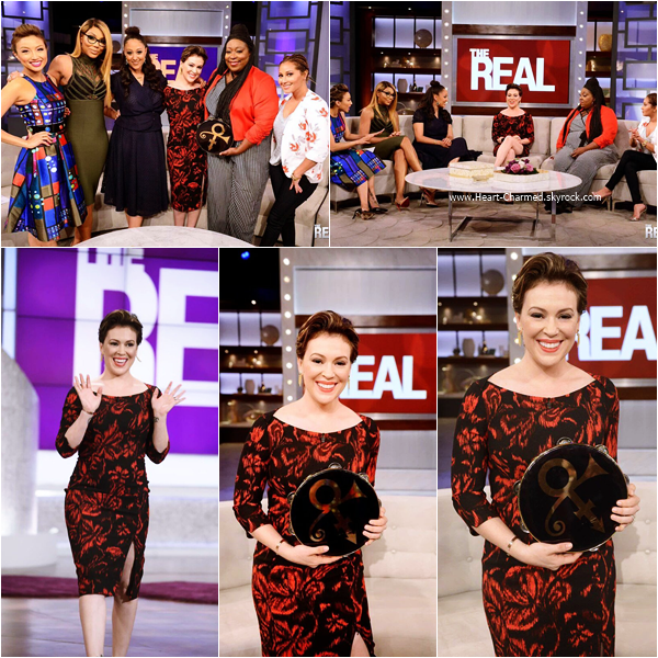 -    05/05/2016 : Alyssa sur le plateau de l'émission The Real à Los Angeles.  -