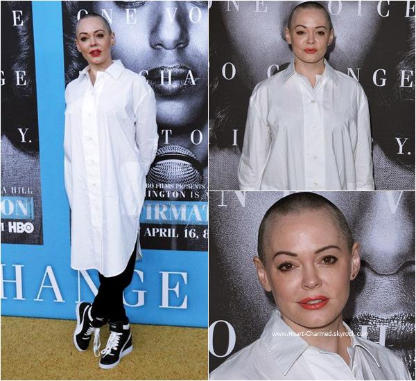 -    31/03/2016 : Rose assistant à la première du film Confirmation à Los Angeles.  -