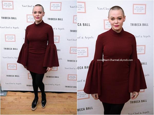 -    04/04/2016 : Rose assistant au New York Academy Of Art's Tribeca Ball 2016 à New-York.  -
