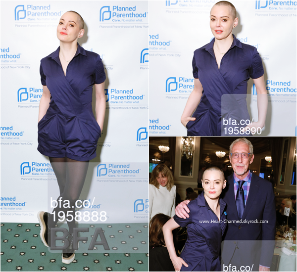 -    14/04/2016 : Rose assistant au Planned ParenthoodSpring Luncheon honoring Marilyn Minter à New-York.  -