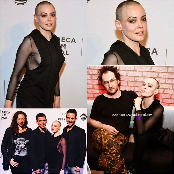 "-    22/04/2016 : Rose assistant au SHOT! The Psycho-Spiritual Mantra Of Rock"" Screening - 2016 Tribeca Film Festival à New-York.  -"