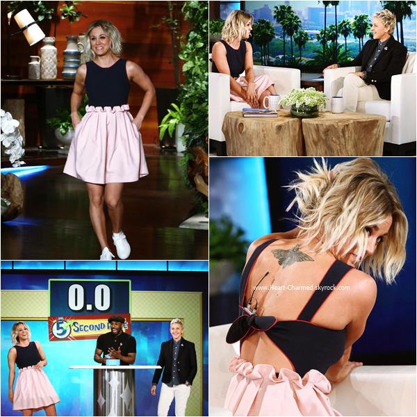 -    23/02/2016 : Kaley sur le plateau de l'émission The Ellen Degeneres Show.  -