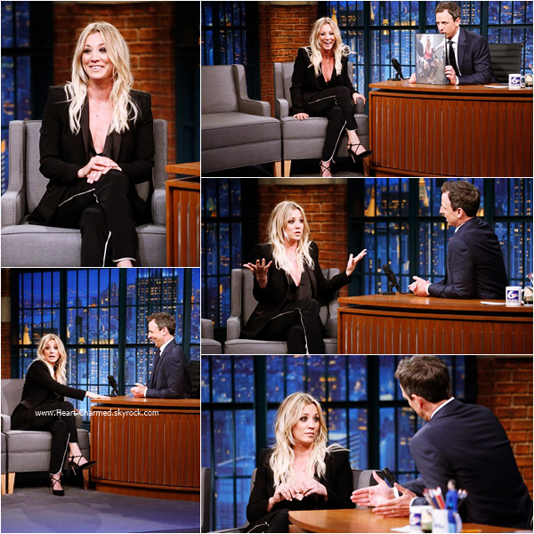 -    10/05/2016 : Kaley sur le plateau de l'émission Late Night with Seth Meyers.  -