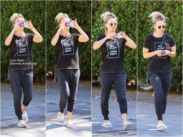 -    16/03/2016 : Kaley quittant un salon de manucure à Studio City.  -