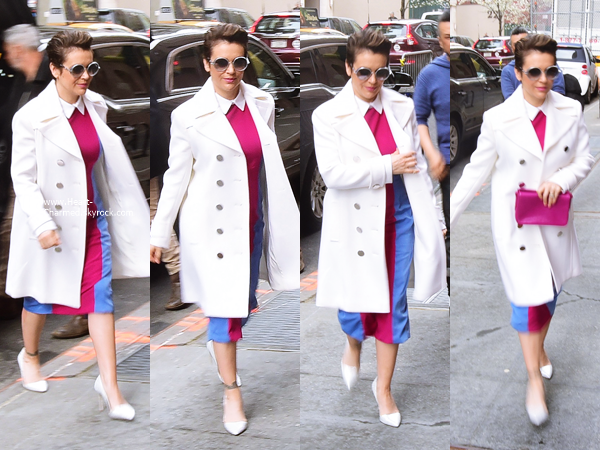 -    07/04/2016 : Alyssa arrivant à l'émission Today Show à New-York.  -