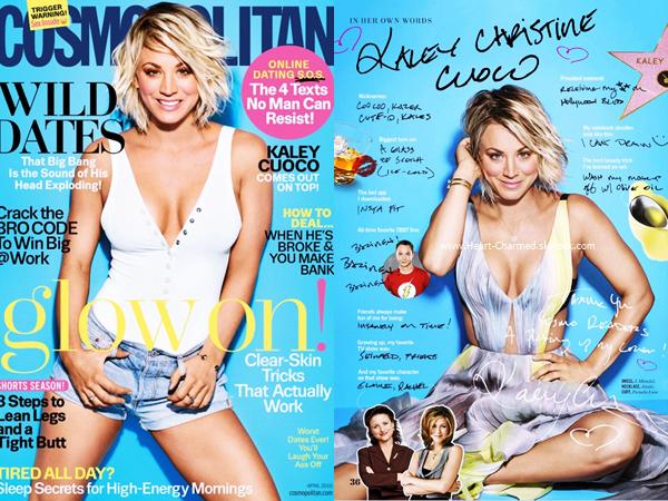 -    Cosmopolitan : Kaley pour le magazine Cosmopolitan d'Avril 2016.  -