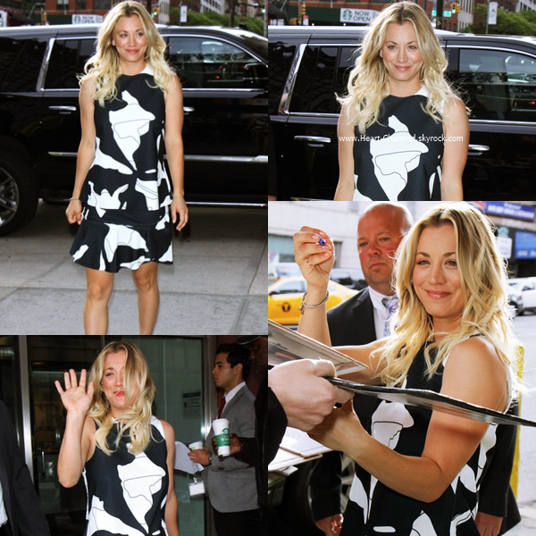 -    10/05/2016 : Kaley arrivant aux studios de l'émission CBS This Morning à New-York.  -