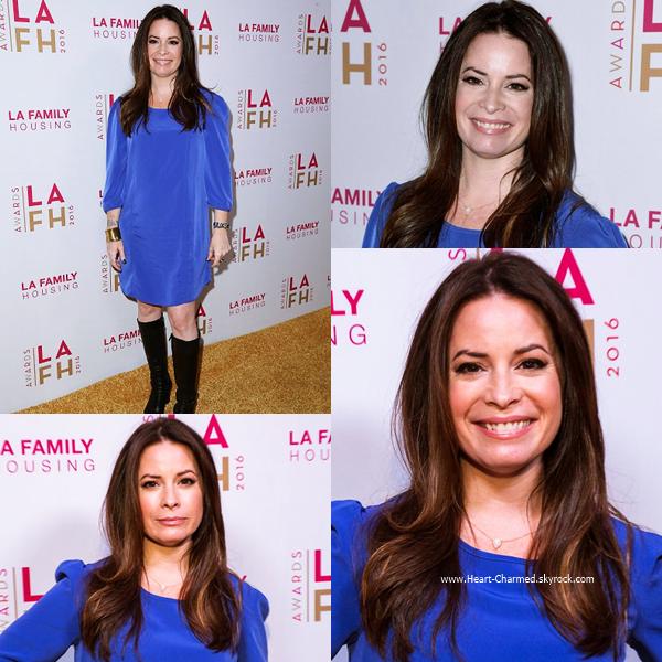 -    21/04/2016 : Holly et son fils assistant au  LA Family Housing's Annual Awards 2016 à Los Angeles.  -