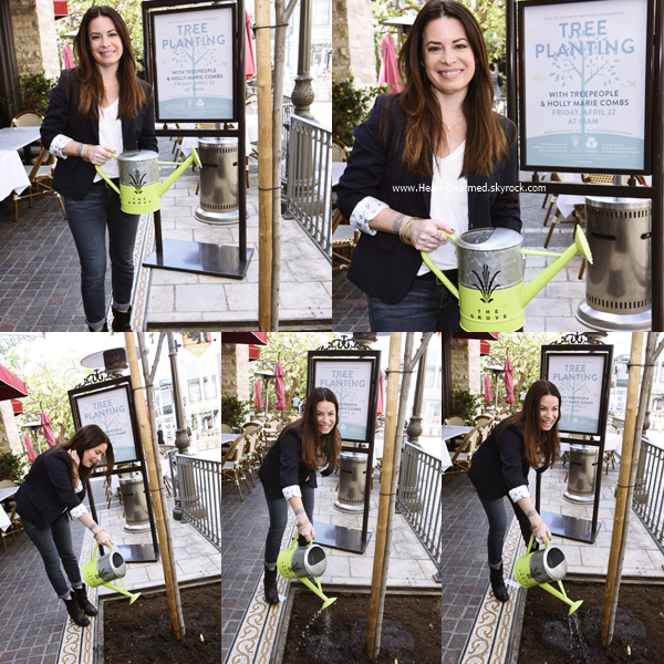 -    22/04/2016 : Holly assistant au The Grove And TreePeople Celebrate Earth Day With Holly Marie Combs à Los Angeles.  -