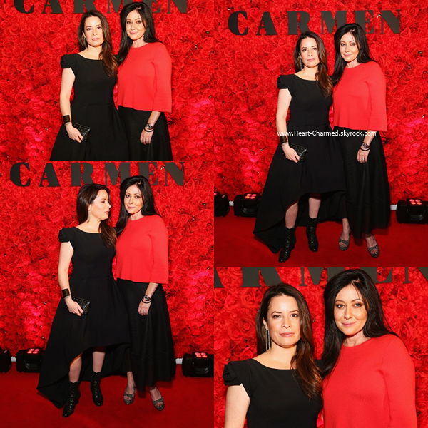 -    16/06/2016 : Shannen et Holly assistant au Opera Australia 'Carmen' Opening Night à Sydney.  -