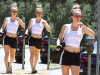 -    16/08/2016 : Kaley quittant son cours de yoga à Sherman Oaks.  -