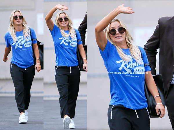 -    12/09/2016 : Kaley arrivant aux studios de l'émission Jimmy Kimmel Live à Hollywood.  -