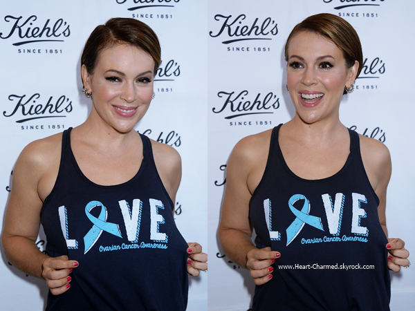 -    22/09/2016 : Alyssa assistant au Kiehl's LifeRide For The Ovarian Cancer Research Fund Alliance à Los Angeles.  -