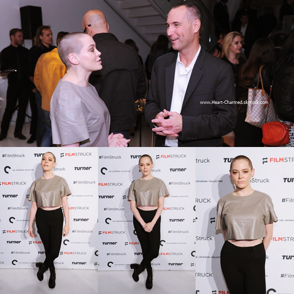 -    06/10/2016 : Rose assistant au lancement du FilmStruck à New-York.  -