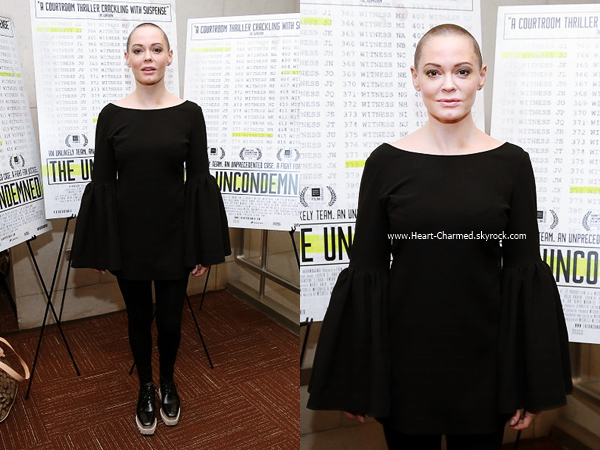 -    19/10/2016 : Rose à la projection du film The Uncondemned à New-York.  -