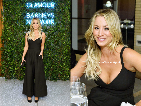 -    13/11/2016 : Kaley assistant au Glamour's 2016 pre-Women of the Year Awards dinner de Los Angeles.  -