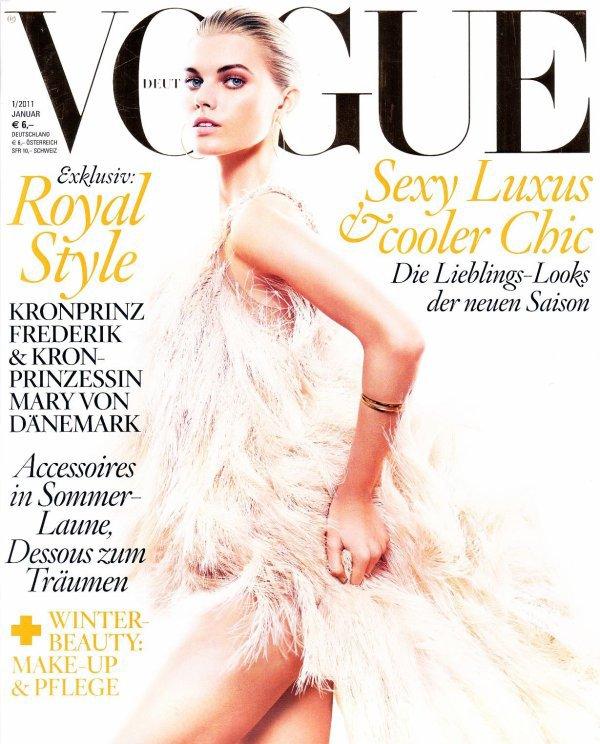 Maryna Linchuk - Vogue Germany, january 2011.