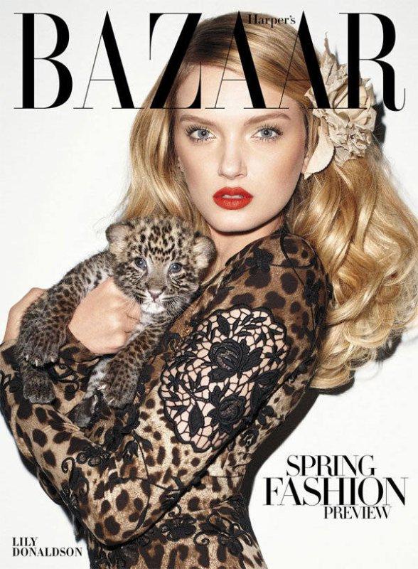 Lily Donaldson - Harper's Bazaar Russia.