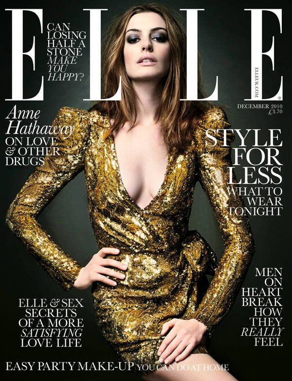 Anne Hathaway - Elle UK, december 2010.