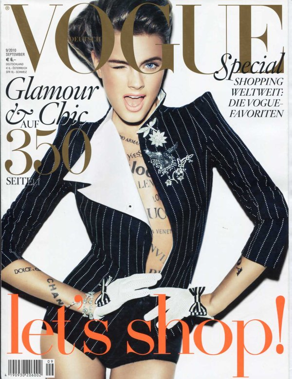 Constance Jablonski - Vogue Germany, september 2010.