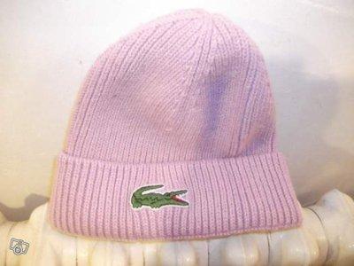 bonnet lacoste rose