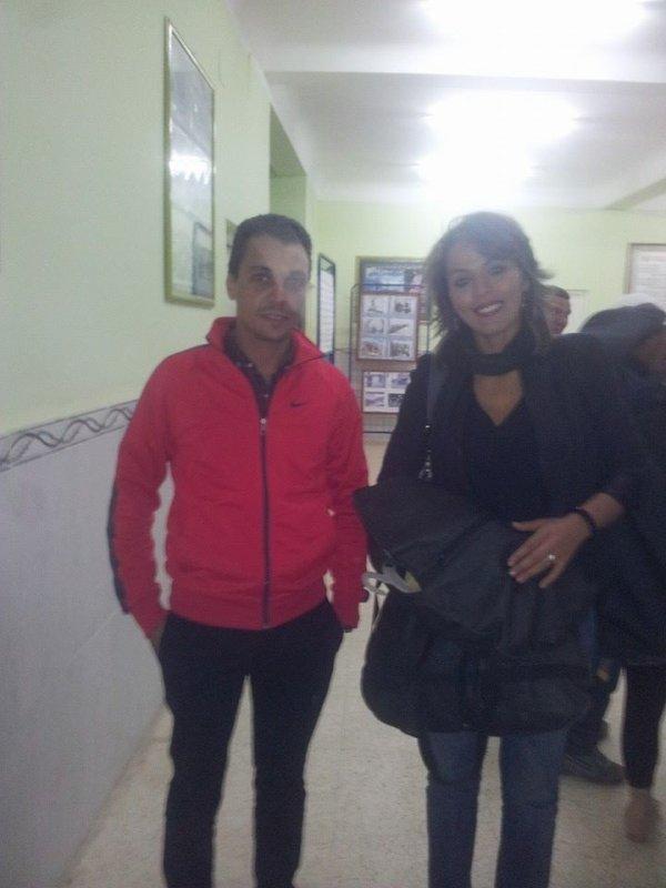 moi et une chanteuse algerienne