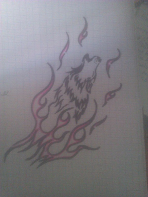 Loup tribal...